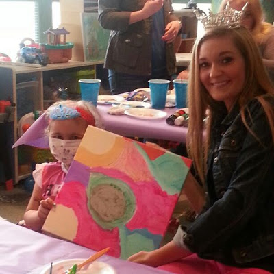 Kaitlin with Alana at WVU Children's Hospital