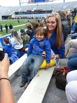 Kaitlin and Noah at the game